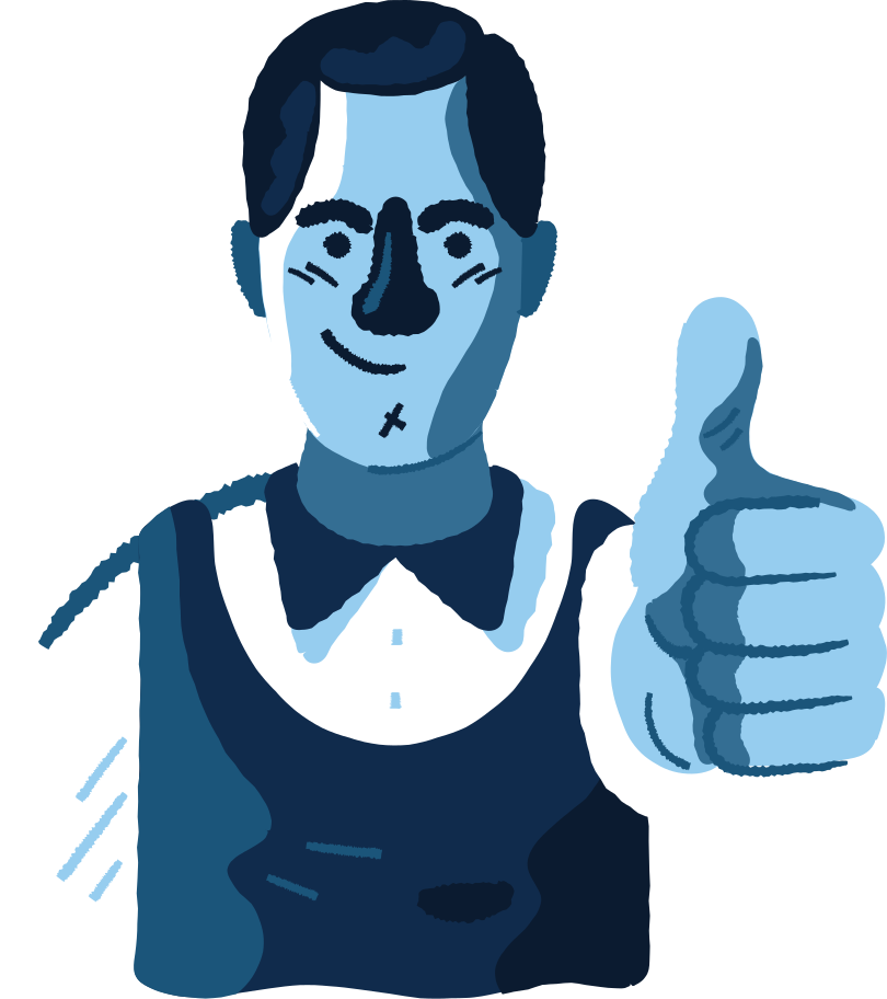 man with thumbs up Clipart illustration in PNG, SVG