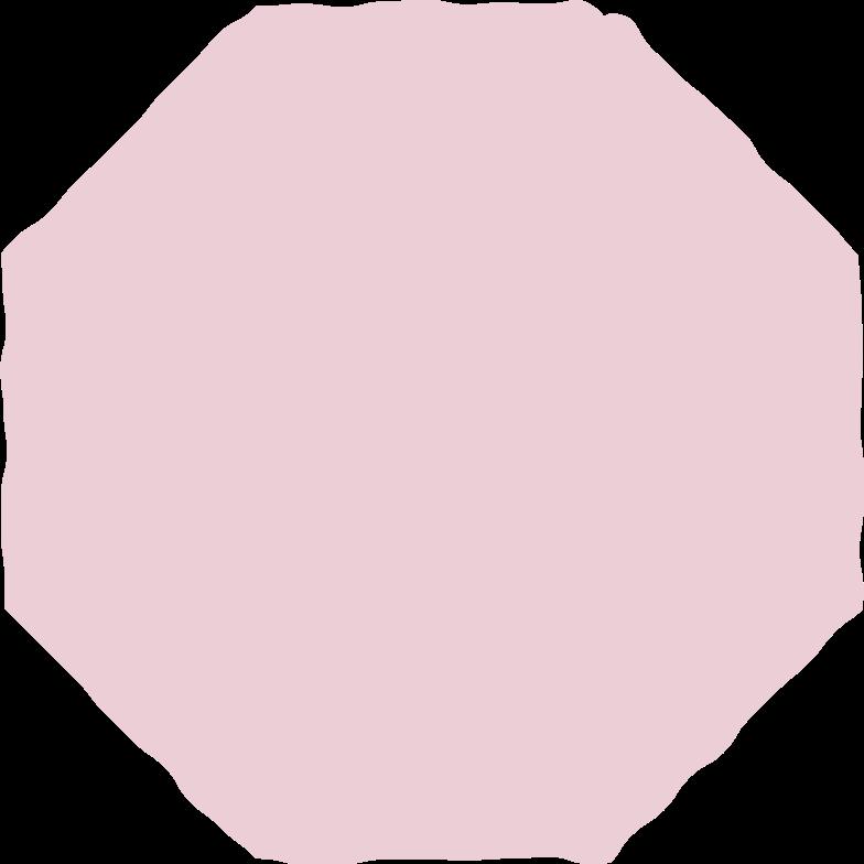 octagon pink Clipart illustration in PNG, SVG