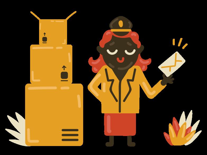 Postman Clipart illustration in PNG, SVG