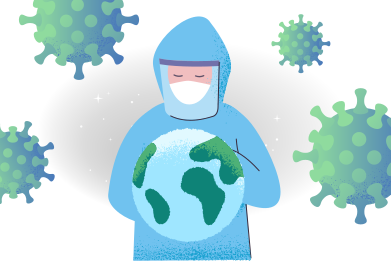 style World fights against the virus images in PNG and SVG | Icons8 Illustrations