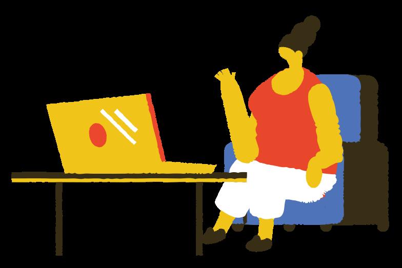 Illustration clipart communication en ligne aux formats PNG, SVG