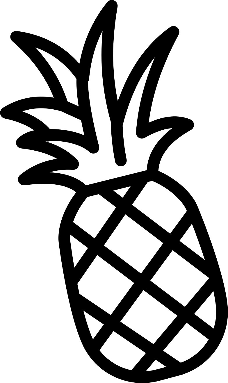 pineapple small Clipart illustration in PNG, SVG