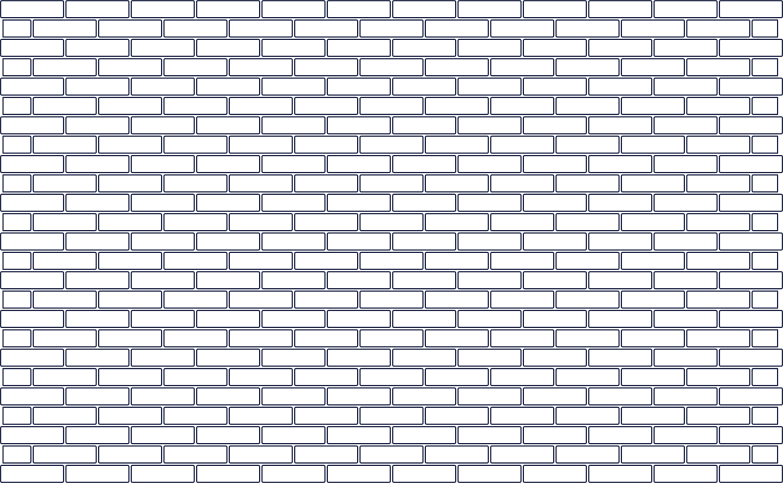 brick wall line Clipart illustration in PNG, SVG