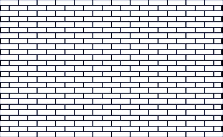 brick wall line Clipart-Grafik als PNG, SVG