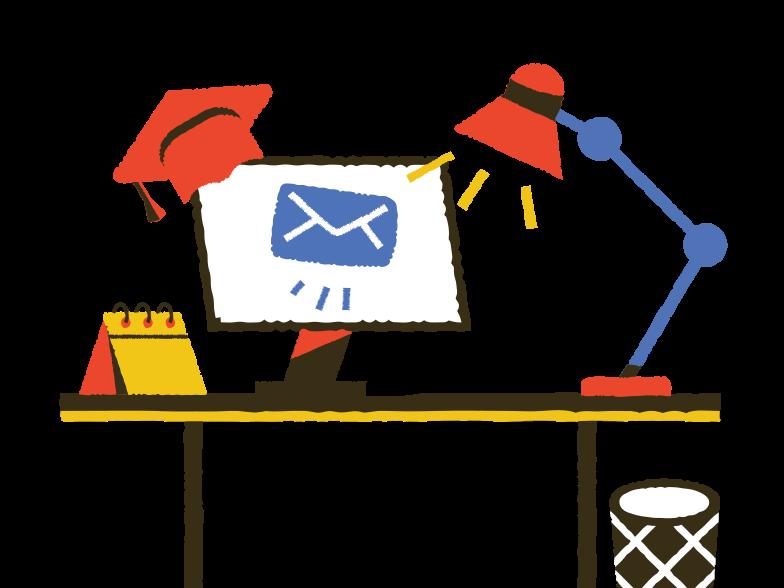Sending e-mail Clipart illustration in PNG, SVG