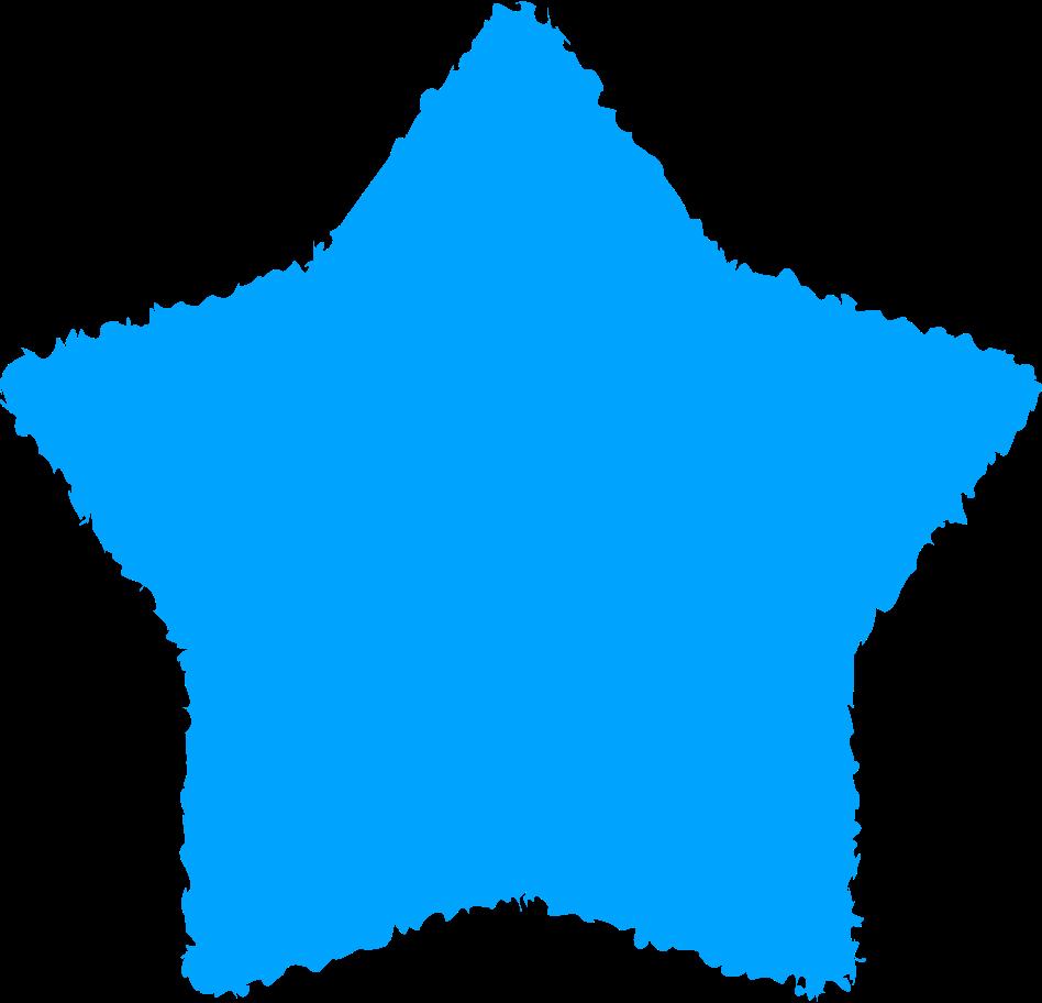 star sky blue Clipart illustration in PNG, SVG