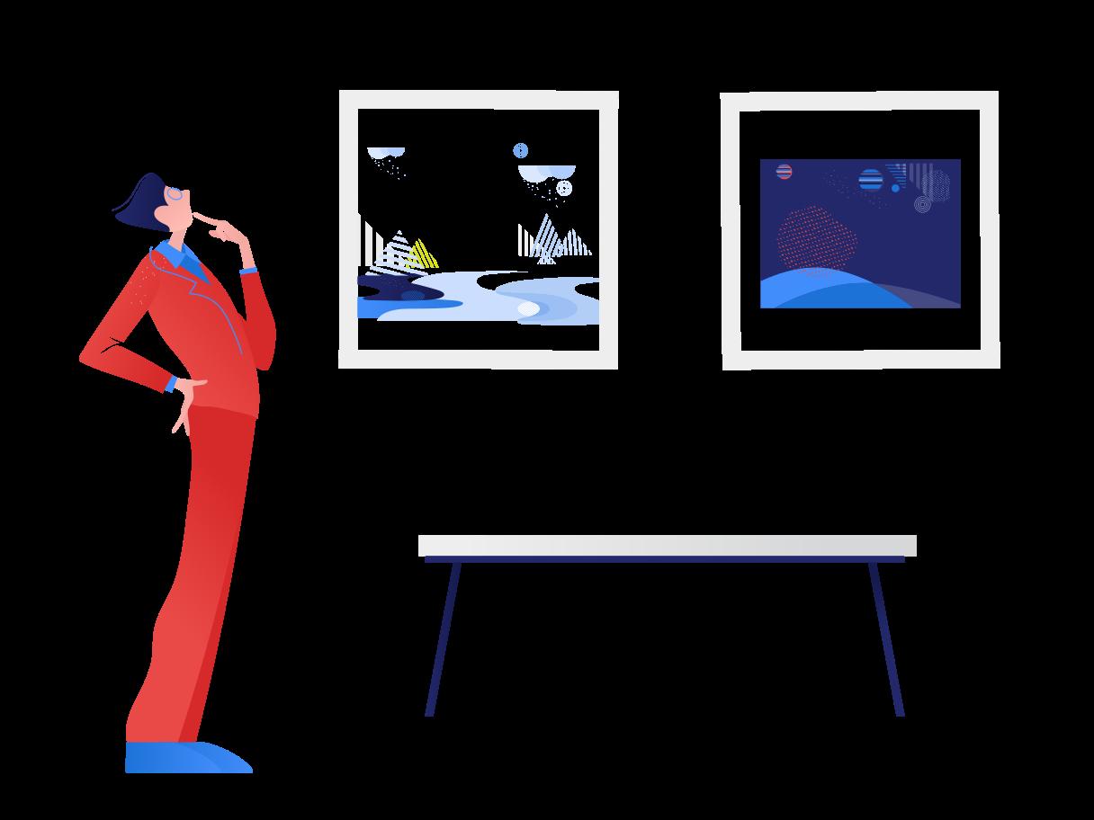 Ilustración de clipart de Galería en PNG, SVG