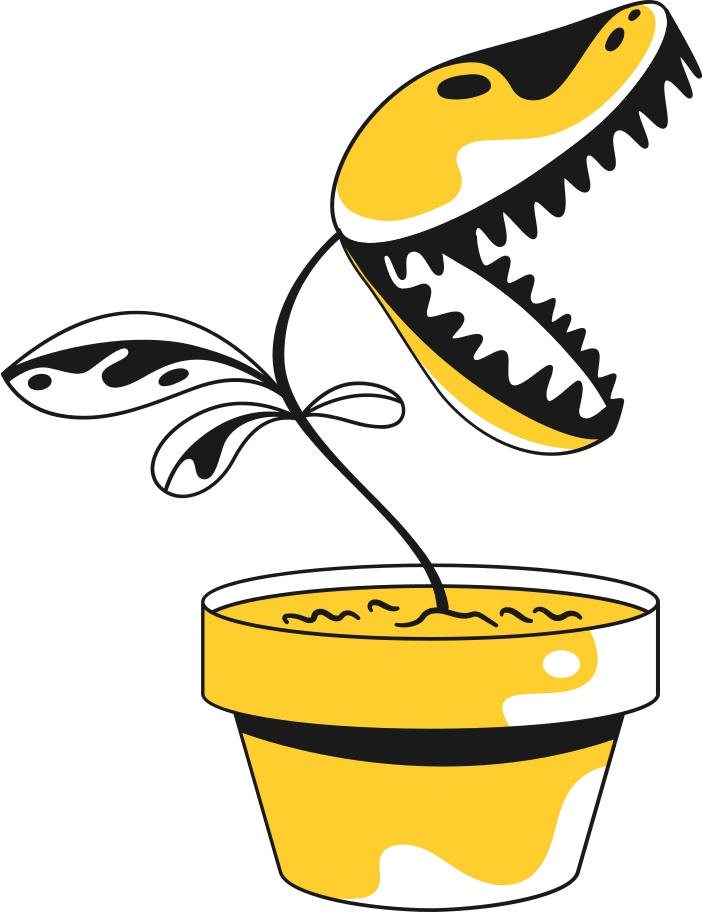 plant carnivorous Clipart illustration in PNG, SVG