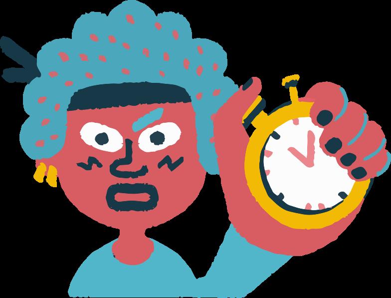 holding timer Clipart illustration in PNG, SVG