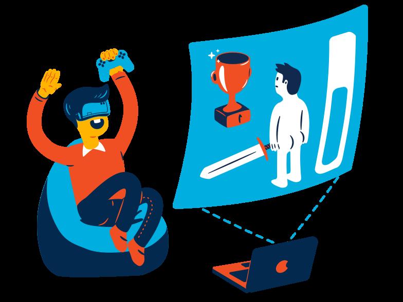 VR game Clipart illustration in PNG, SVG