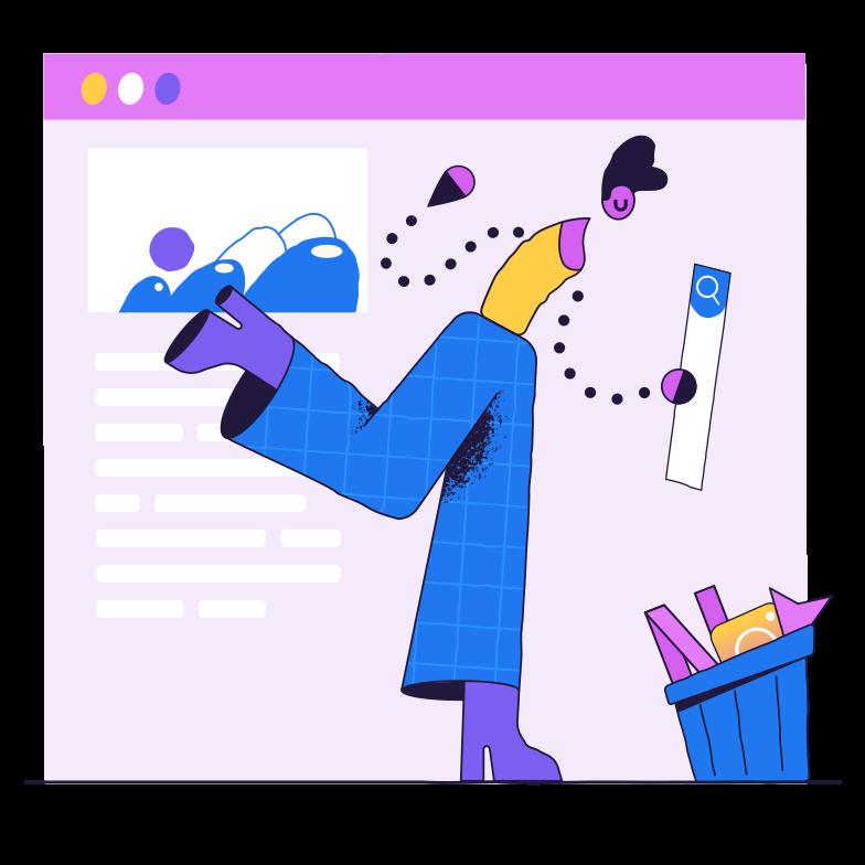 Website creation Clipart illustration in PNG, SVG