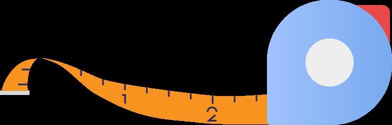 tape measure Clipart illustration in PNG, SVG