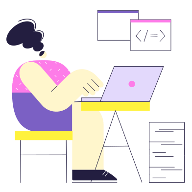 style Programmer's work images in PNG and SVG | Icons8 Illustrations