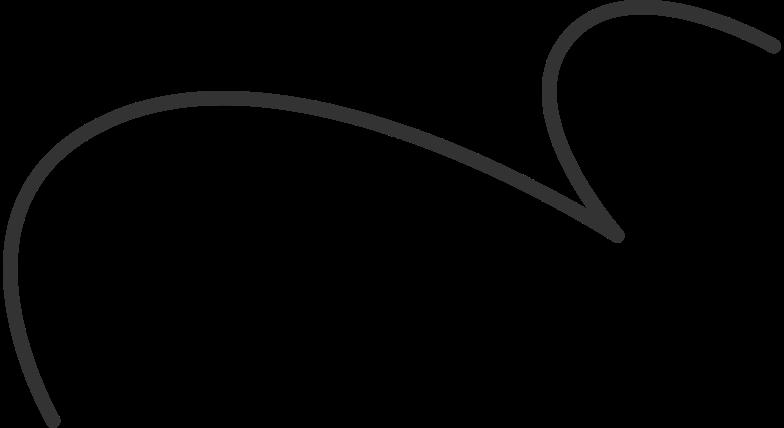 curly line black Clipart illustration in PNG, SVG