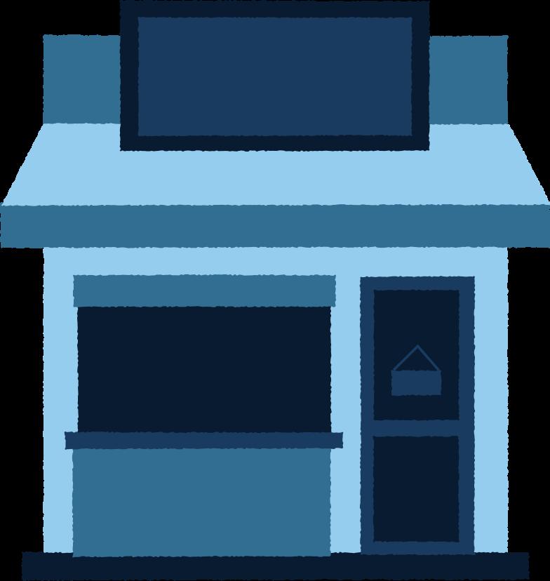 blue shop Clipart illustration in PNG, SVG