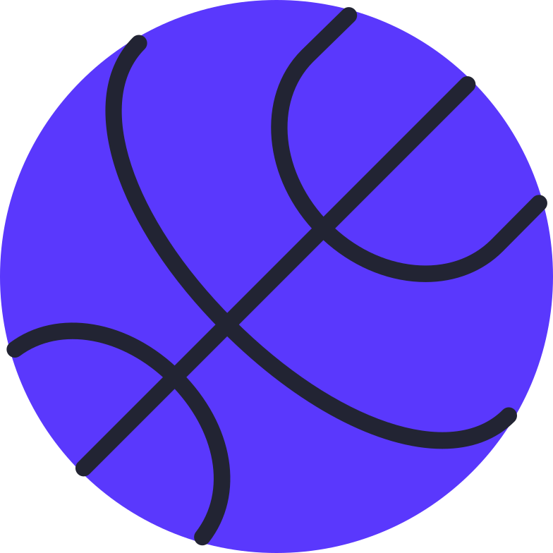 basketball ball Clipart illustration in PNG, SVG