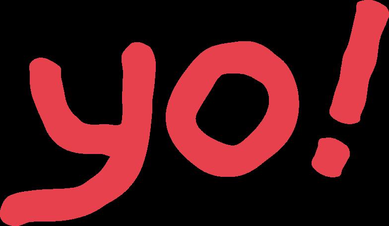 yo Clipart illustration in PNG, SVG
