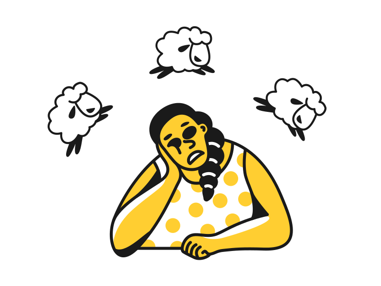 Napping Clipart illustration in PNG, SVG