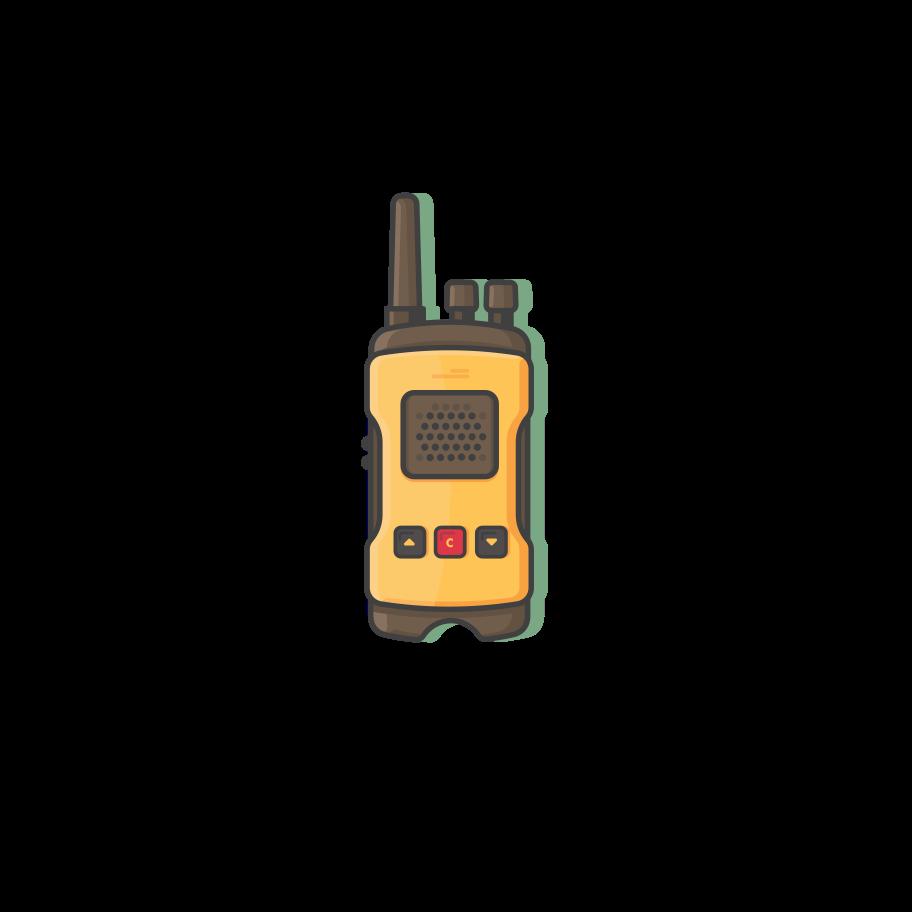 Walkie-talkie Clipart illustration in PNG, SVG