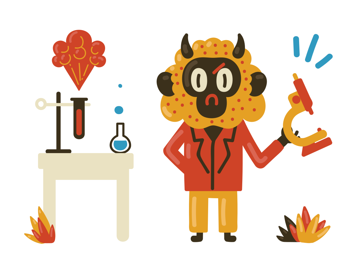 Chemistry teacher Clipart illustration in PNG, SVG