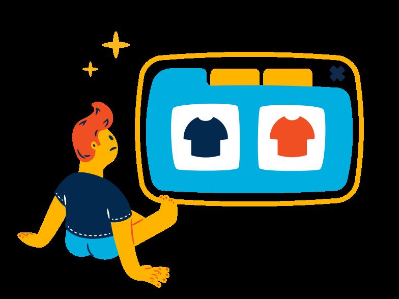 Illustration clipart Shopping en ligne aux formats PNG, SVG
