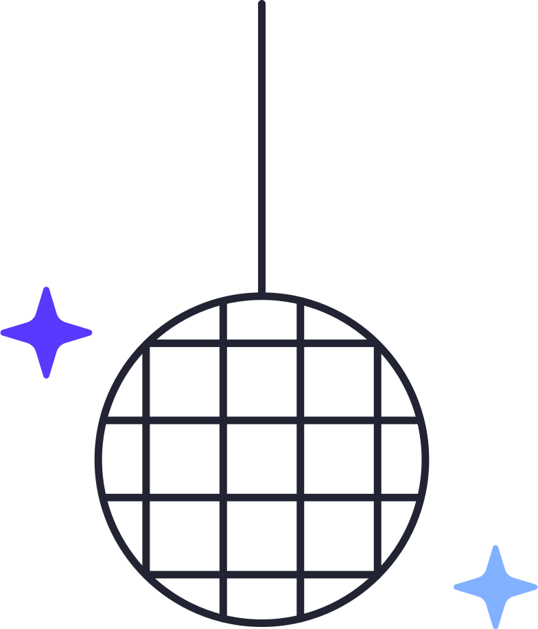 disco ball Clipart illustration in PNG, SVG