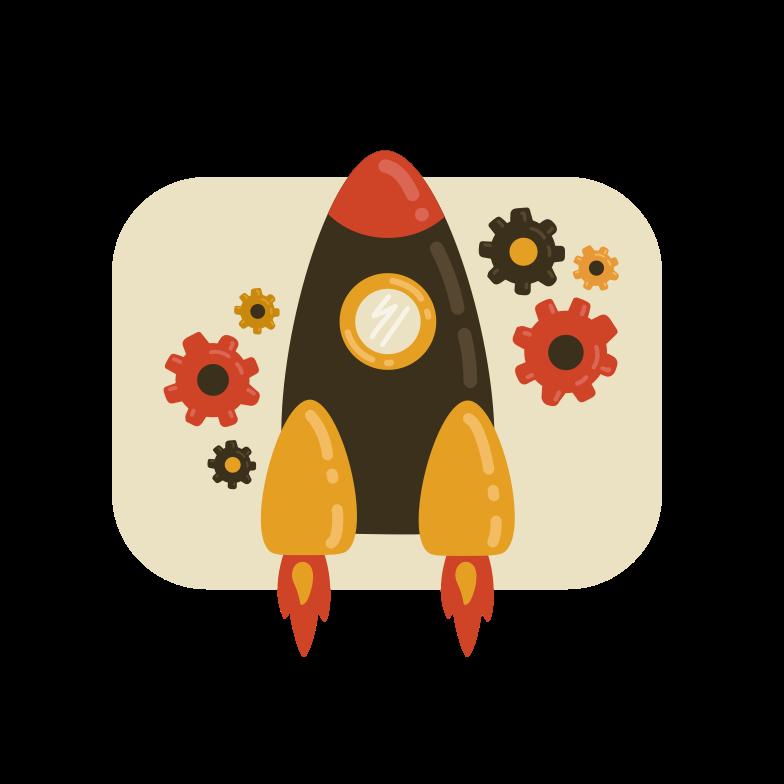 Rocket service Clipart illustration in PNG, SVG
