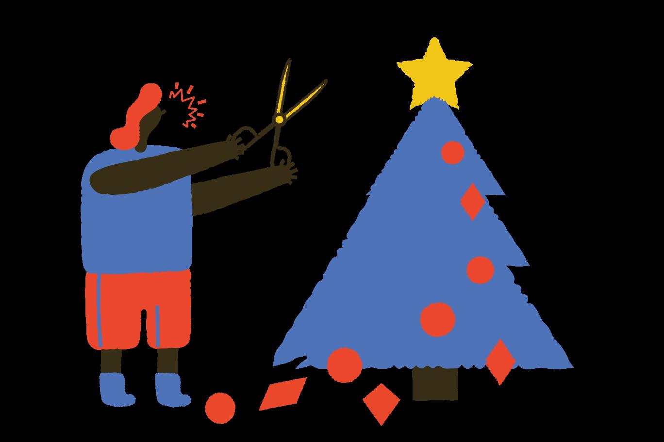 Hate for Christmas Clipart-Grafik als PNG, SVG