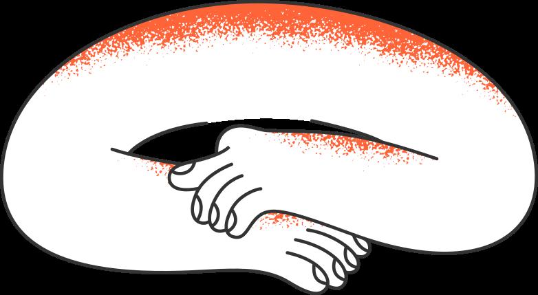 hands eldery Clipart illustration in PNG, SVG