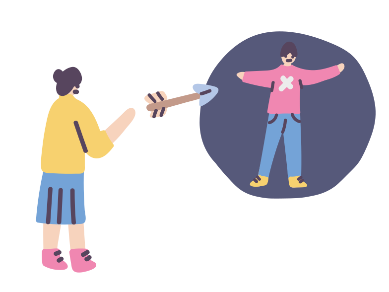 Human target Clipart illustration in PNG, SVG