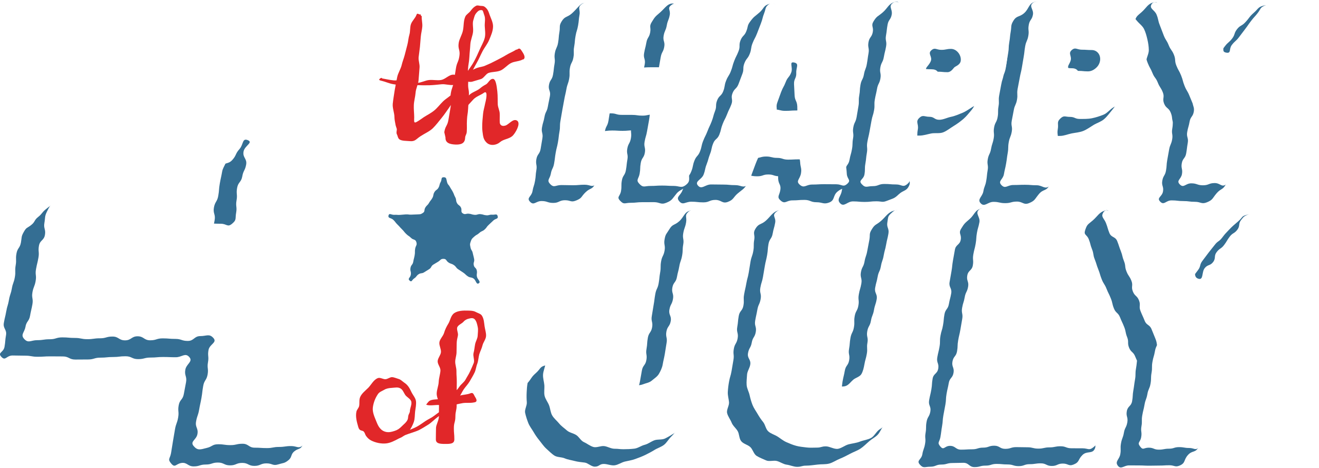 fourth of july lettering Clipart illustration in PNG, SVG