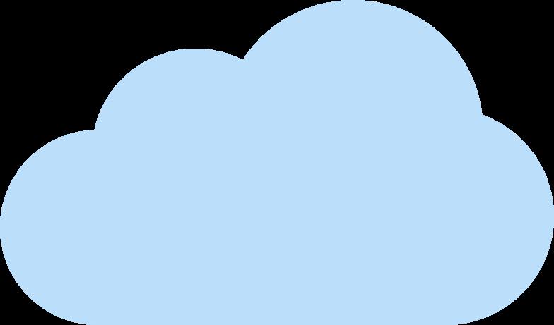 Ilustração de clipart de nuvem em PNG e SVG