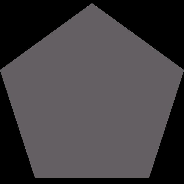 pentagon grey Clipart illustration in PNG, SVG
