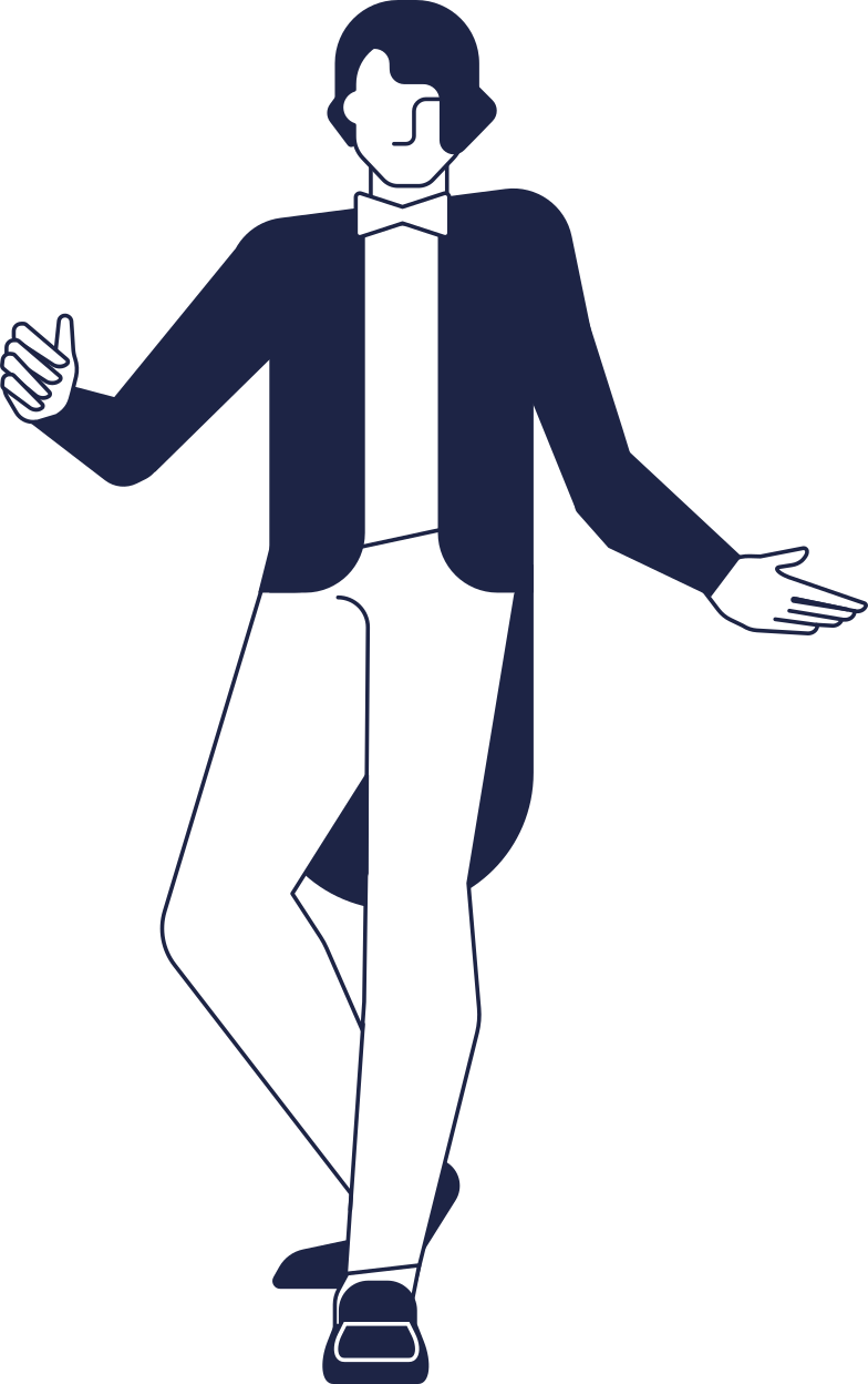 man inviting line Clipart illustration in PNG, SVG