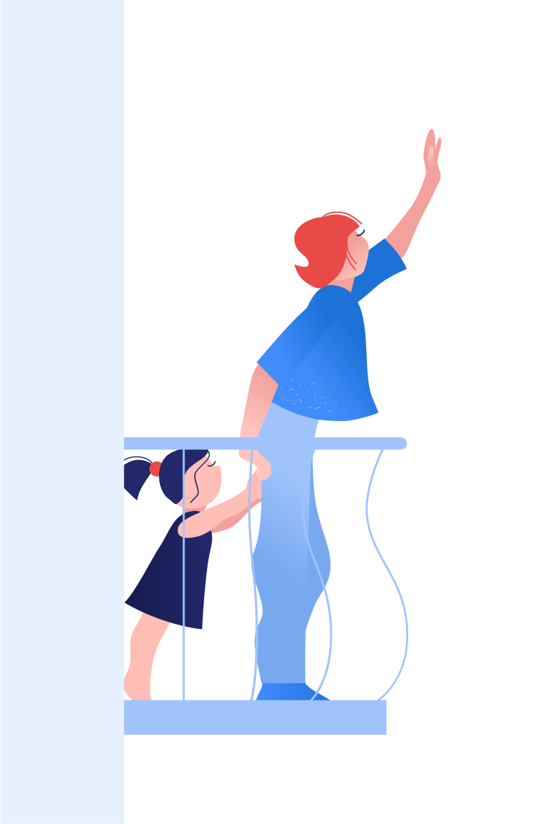style Waving from the balcony Vector images in PNG and SVG | Icons8 Illustrations