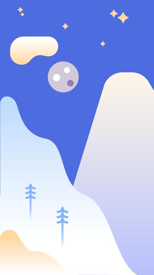 Hillside at night Clipart illustration in PNG, SVG