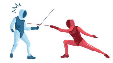 style Fencing competition images in PNG and SVG | Icons8 Illustrations