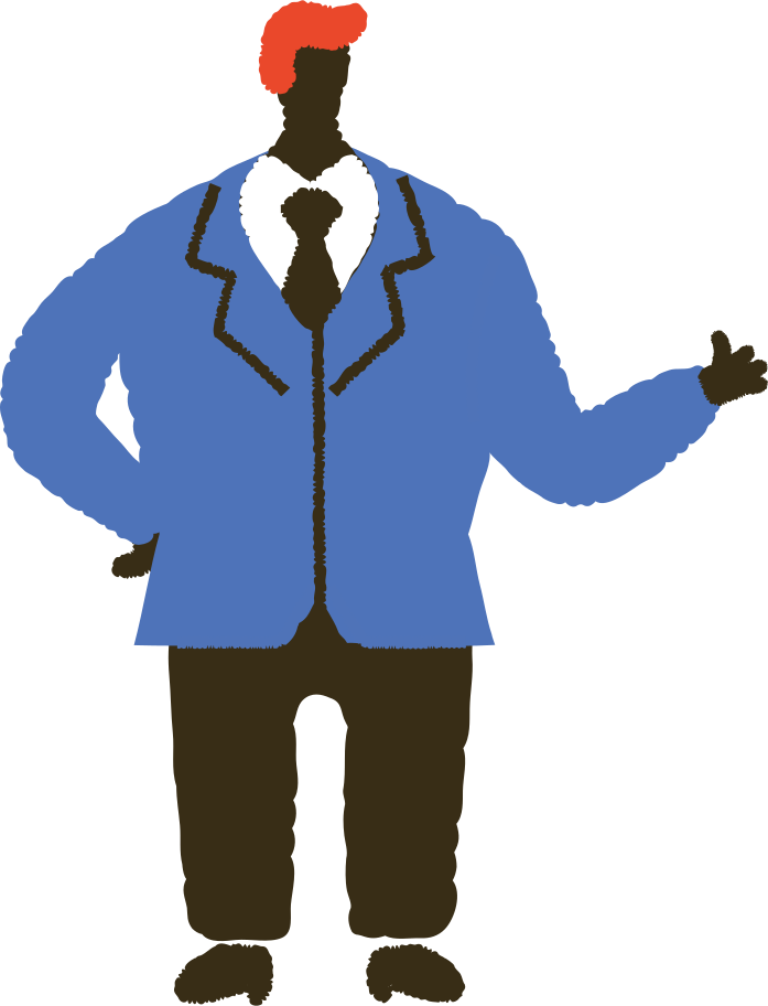 man in suit Clipart illustration in PNG, SVG