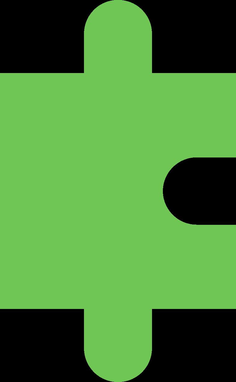 Pezzo di puzzle lime chiaro Illustrazione clipart in PNG, SVG