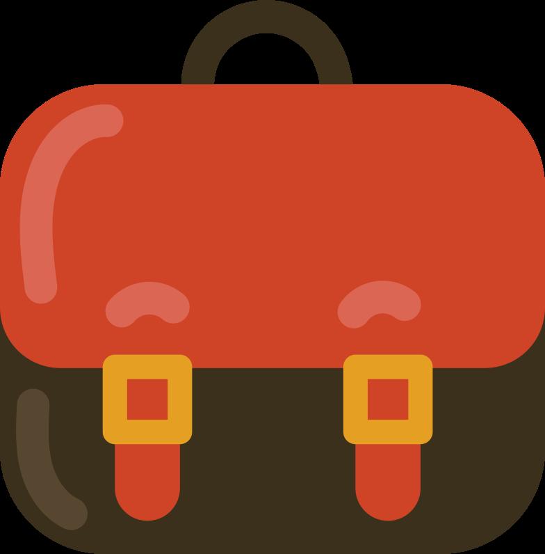 school bag front Clipart illustration in PNG, SVG