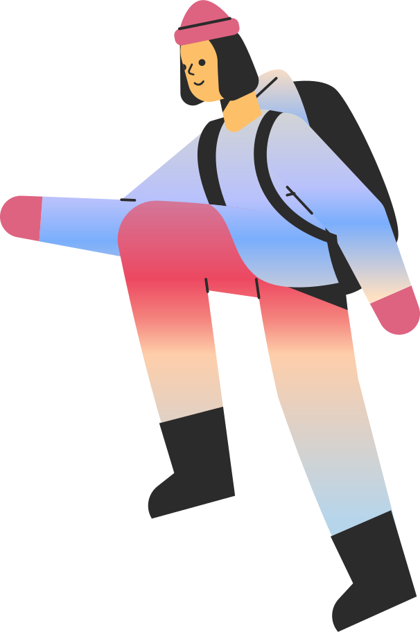 tourist girl Clipart illustration in PNG, SVG