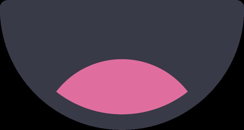 kawaii mouth Clipart-Grafik als PNG, SVG