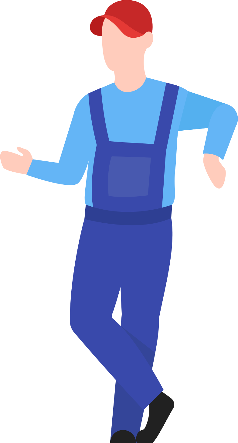 man warehouse worker Clipart illustration in PNG, SVG
