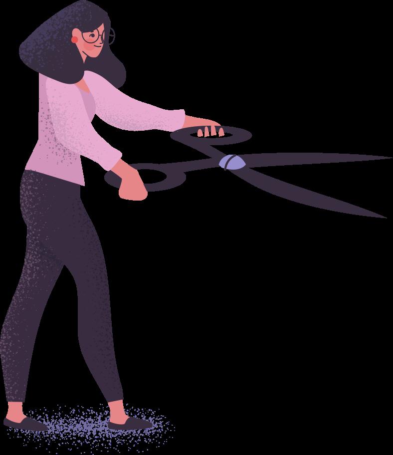 Style  femme avec des ciseaux Images vectorielles en PNG et SVG   Icons8 Illustrations