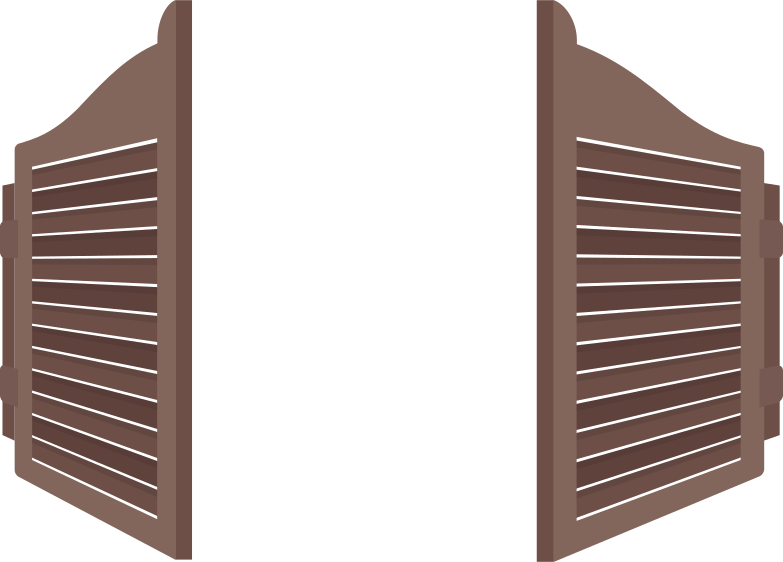 saloon-doors Clipart illustration in PNG, SVG