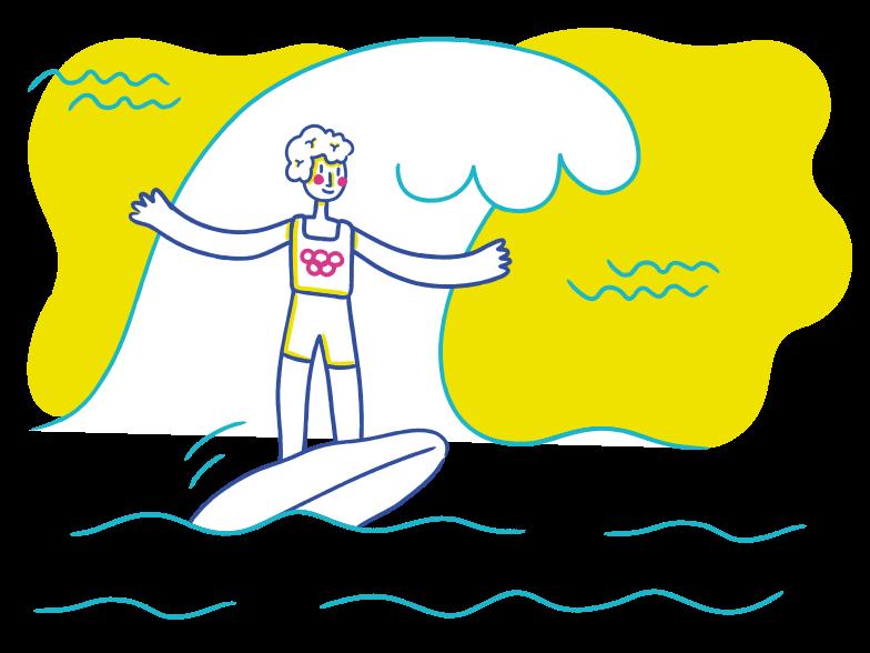 PNGとSVGの  スタイルの サーフィン ベクターイメージ | Icons8 イラスト