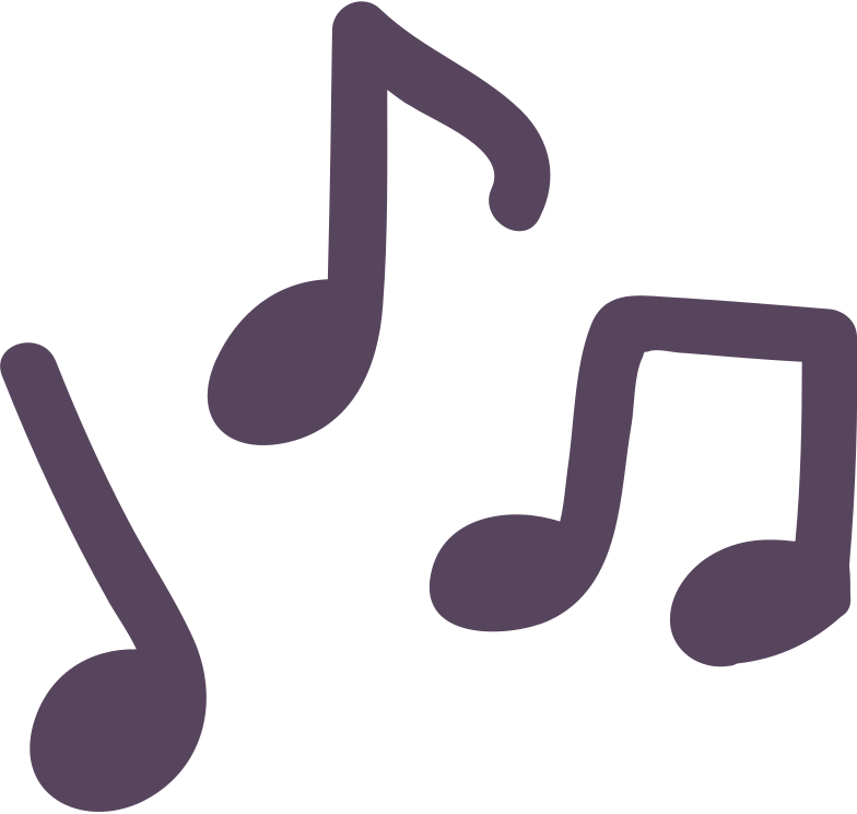 music notes Clipart illustration in PNG, SVG