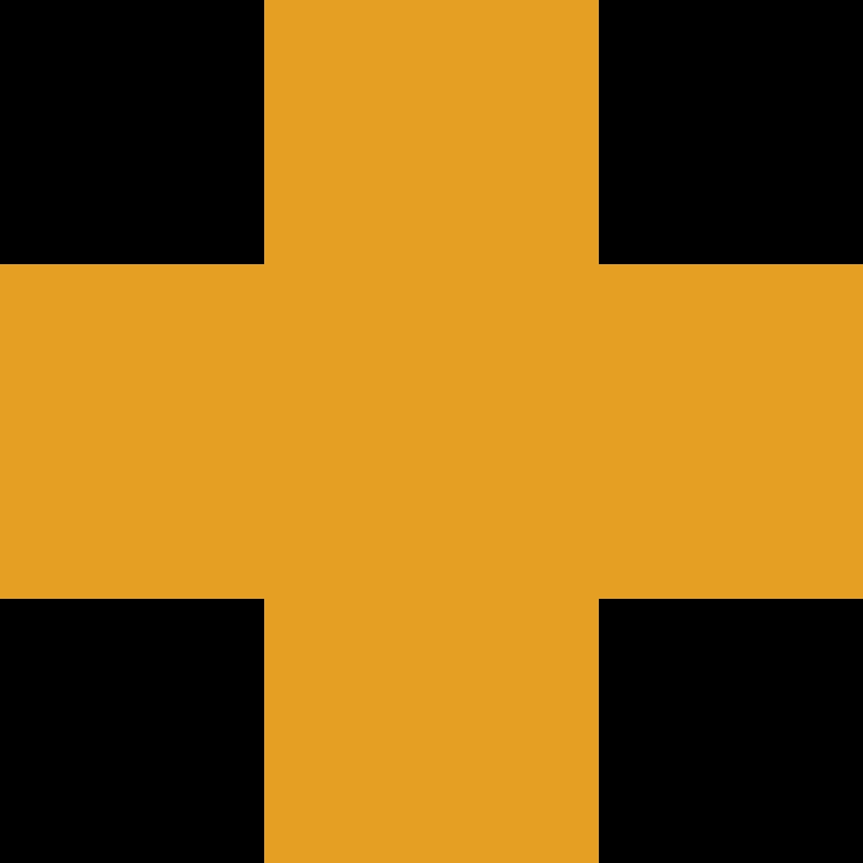 Kreuz orange Clipart-Grafik als PNG, SVG