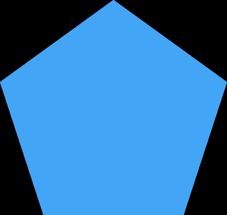 pentagon blue Clipart illustration in PNG, SVG