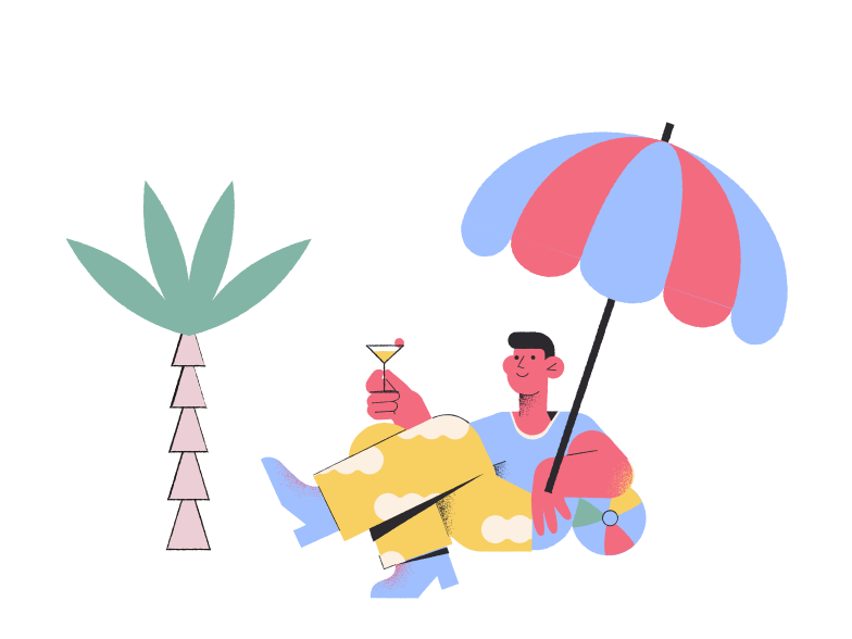 Relax on the beach Clipart illustration in PNG, SVG